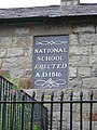 Plaque on the Former National School in Steeple Lane - geograph.org.uk - 490720.jpg