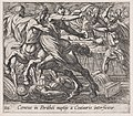 Plate 116- The Battle of the Lapithae and the Centaurs (Caeneus in Perithoi nuptijs a Centauris interficitur), from Ovid's 'Metamorphoses' MET DP866563.jpg