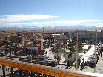 Los Andes Province (Bolivia) - Pucarani with the Cordillera Real in the background