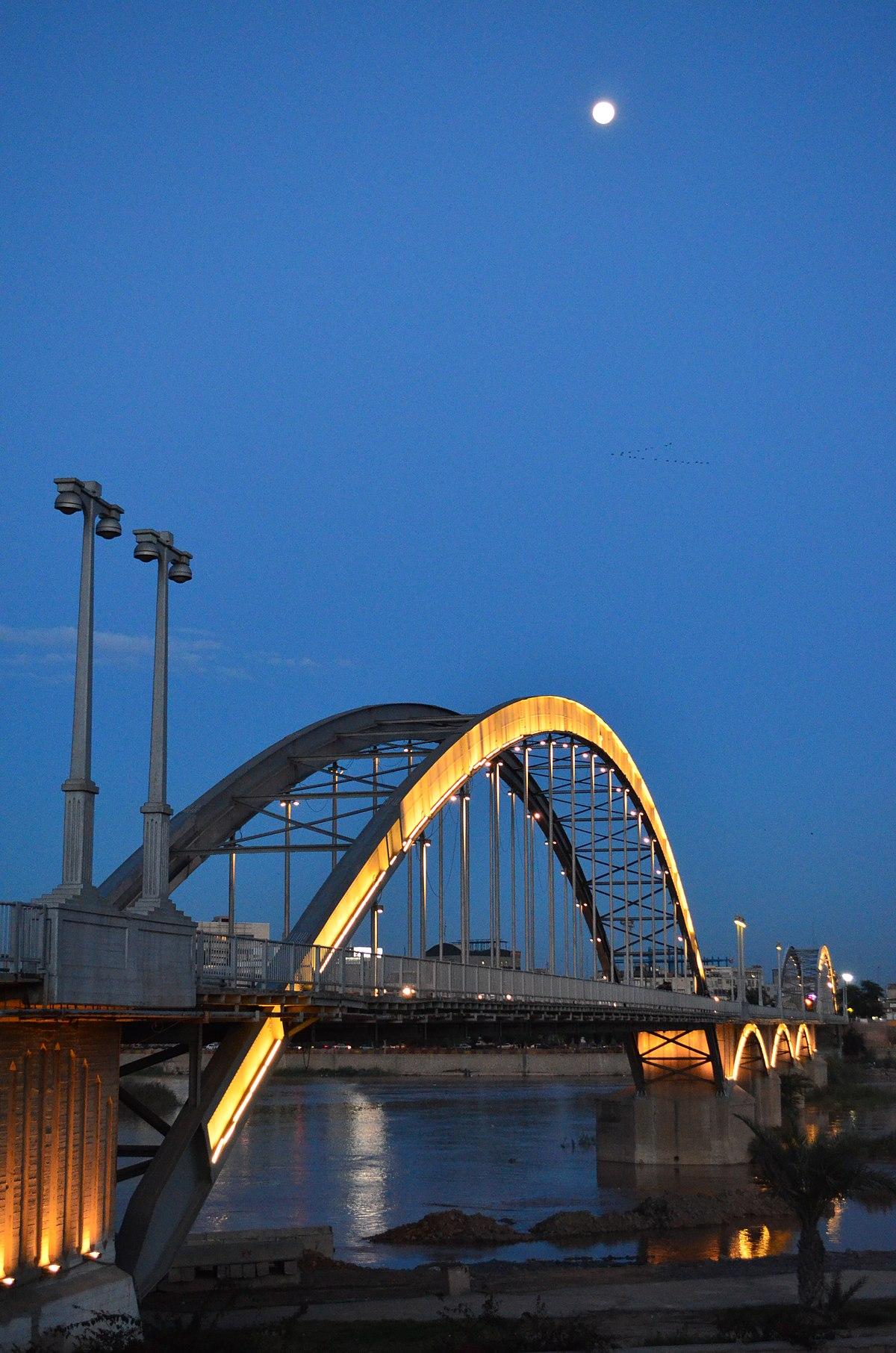 پل سفید اهواز - ویکیپدیا، دانشنامهٔ آزاد