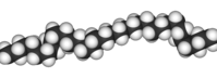 Spacefill model of polyethylene