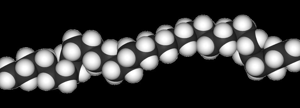 Spacefill model of polyethylene