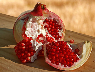 Sarcotesta - Pomegranate seeds have a sarcotesta