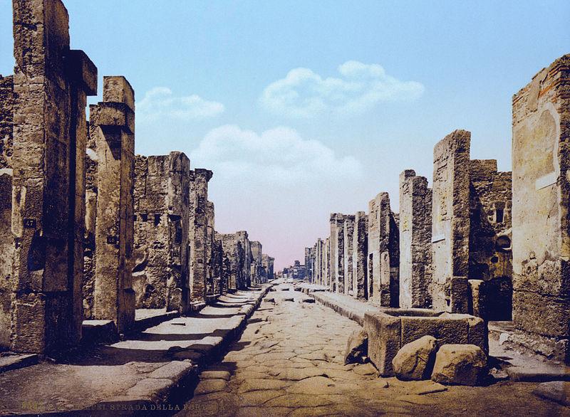 File:Pompeji um 1900 strada fortuna.jpg