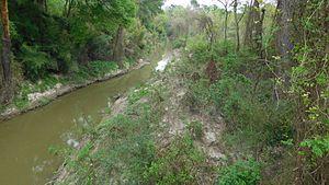 Battle of Ponchatoula - Ponchatoula Creek where the bridge skirmishes took place. Image taken on March 26, 2016 by Robert Bruce Ferguson.