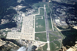 Aerial image of Pope Air Force Base