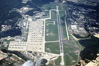Pope Field - Pope Air Force Base, circa 1992 during the start of Air Rodeo '92