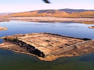 Por-Bazhyn - Por-Bazhyn from the air (looking northwest) before excavation in 2007