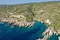 Porto Limnionas bay Zakynthos, Greece aerial (31534982717).jpg