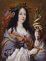 Portrait of Vittoria della Rovere (1622-1667) as Saint Vittoria by Mario Balassi.jpg