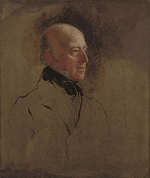 Edward Codrington - Admiral Codrington, MP for Devonport, painted for the reformed House of Commons picture by Sir George Hayter in 1836