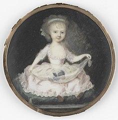 Portret van een kind, gehouden voor Frederica Louisa Wilhelmina (1770-1819), prinses van Oranje-Nassau. Dochter van prins Willem V