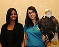 Posing for picture with Bald Eagle. (10597093316).jpg