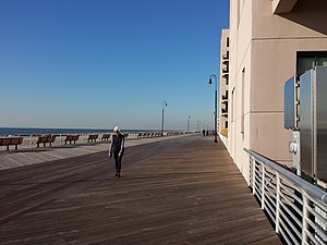 Long Beach, New York - The newly rebuilt boardwalk in November 2013.