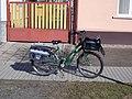 Postal bicycle, Árpád Street, 2020 Szob.jpg