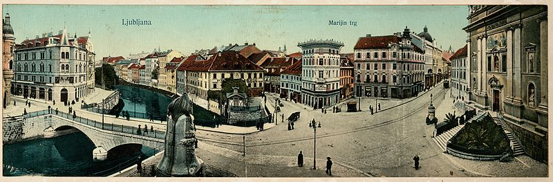 Slika:Postcards of Prešeren Square 1912 (3).jpg