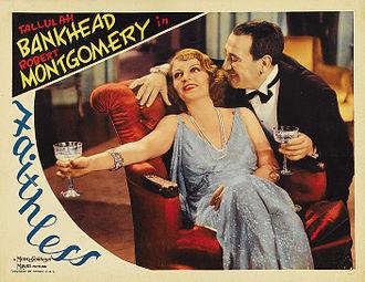 Faithless (1932 film) - Color-enhanced lobby card, 1932