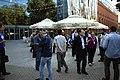 Poznań, 10 let polské Wikipedie, sraz po konferenci.jpg