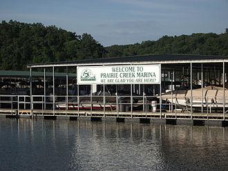 Prairie Creek, Arkansas - Prairie Creek Marina, Prairie Creek Park on Beaver Lake.  Prairie Creek, Arkansas.