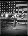 President Hoover makes Armistice Day address at American Legion Exercises. President Hoover as he appeared voicing the sentiments of the nation on th eleventh anniversary of the signing of LCCN2016889483.jpg