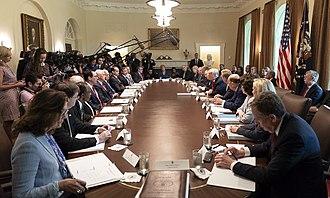 Steven Mnuchin - Cabinet meeting in August 2018