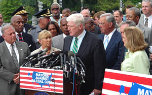 Everytown for Gun Safety - Congressman Jim Moran (D-VA) speaking at an event for Mayors Against Illegal Guns.