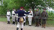 Preussische Soldaten exerzieren