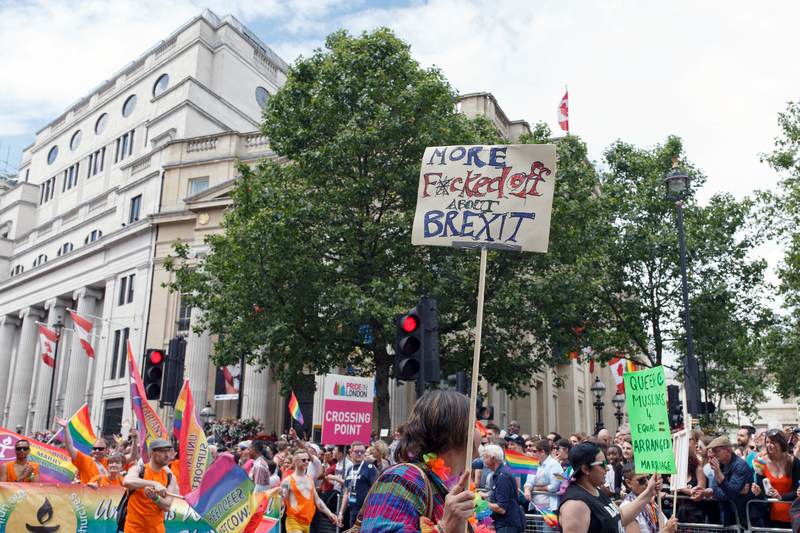 File:Pride in London 2016 - Anti-Brexit sign on the parade route.png