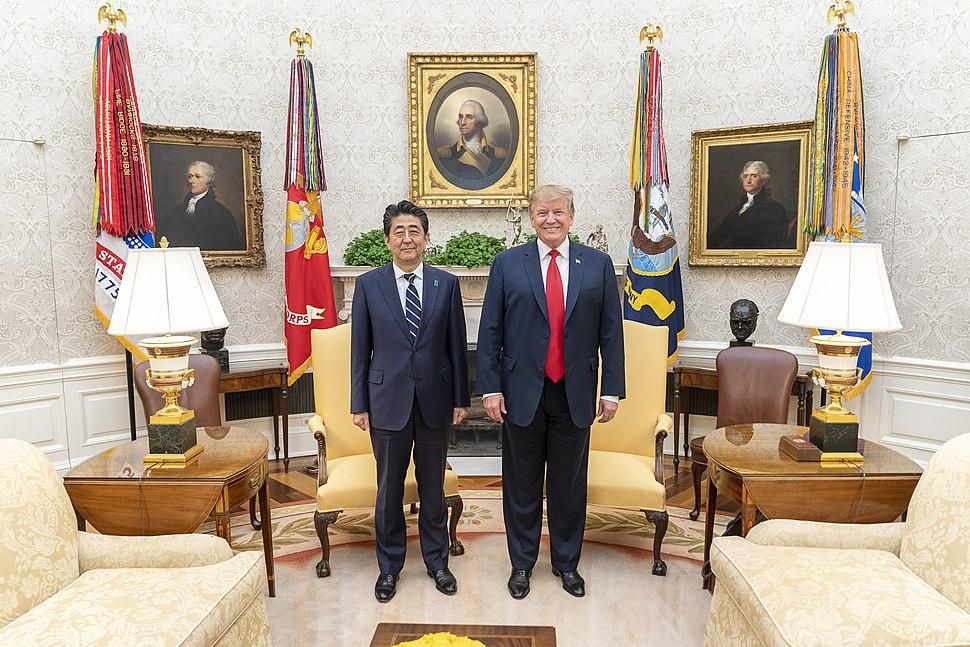 Prime Minister Shinzo Abe of Japan Visits the White House (33855759518)