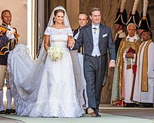 Il marito, christopher o'neill nel giorno del loro matrimonio