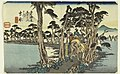 Print, Yoshiwara. Hidari Fuji (Yoshiwara with Mount Fuji), from Tokaido Gojusan Tsugi-na Uchi (Fifty-Three Stations on the Tokaido), 1834 (CH 18387707).jpg
