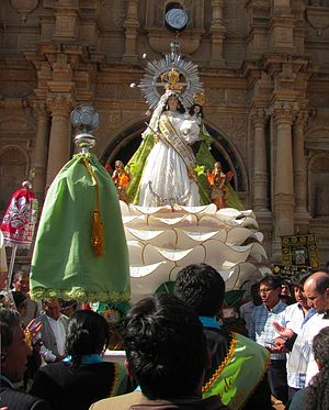 Ayaviri, Melgar - Procession in honor of Our Lady of High Grace.