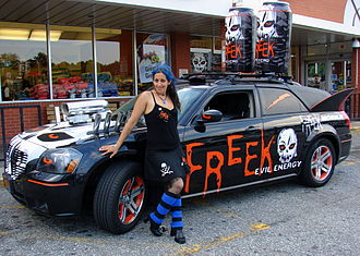 Energy drink - A car advertising an energy drink
