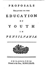 Proposals Relating to the Education of Youth in Pensilvania