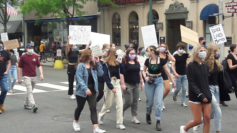 File:Protest march Summit New Jersey Black Lives Matter June 2 2020 8 of 12.jpg