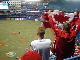 Baseball in Canada - The Canadian national baseball team playing at the Rogers Centre during the 2006 World Baseball Classic.