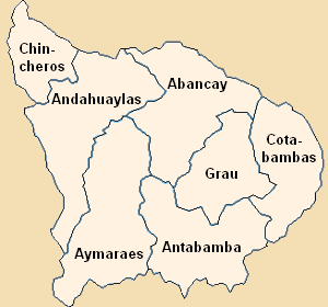 Apurímac Region - Image: Provinces of the Apurímac region in Peru