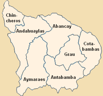Apurímac Region - Image: Provinces of the Apurímac region in Peru