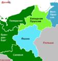Provinzen Westpreussen und Posen vor 1919 ohne Grenzen RUS.png