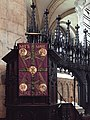 Pulpit Tetramorph and Chi Rho in Durham Cathedral in 2015.jpg