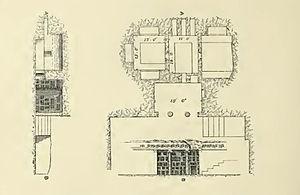 Qarawat Bani Hassan - Section through Deir ed Derb, 1873