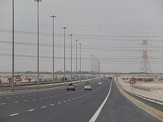 Economy of Qatar - Highway Q3 (from Doha to Dukhan)