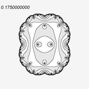 File:Quadratic Julia set with Internal level sets for internal ray 0.ogv