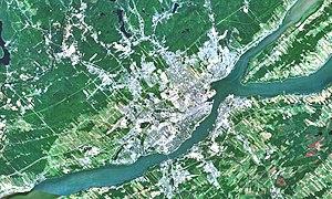 Communauté métropolitaine de Québec - Satellite image of the Communauté métropolitaine de Québec