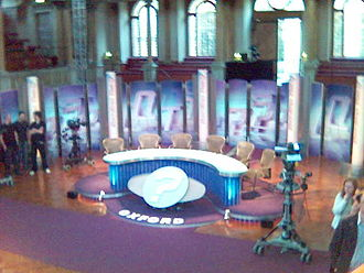 Question Time (TV series) - The former Question Time set at Oxford
