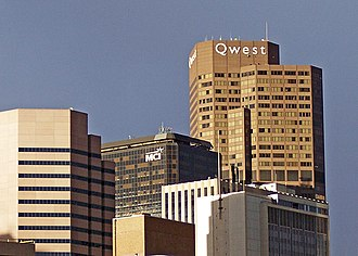 Qwest - The Qwest corporate headquarters in Denver.