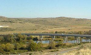 Zújar River - Bridge of the EX-115 road over the Zújar