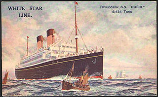 SS <i>Doric</i> (1922) ocean liner