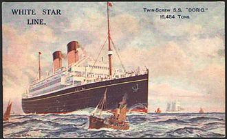 SS Doric (1922) - Image: RMS Doric
