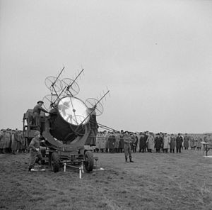 28th (Essex) Searchlight Regiment, Royal Artillery - 150 cm Searchlight equipped with No 2 Mk VI SLC ('Elsie').